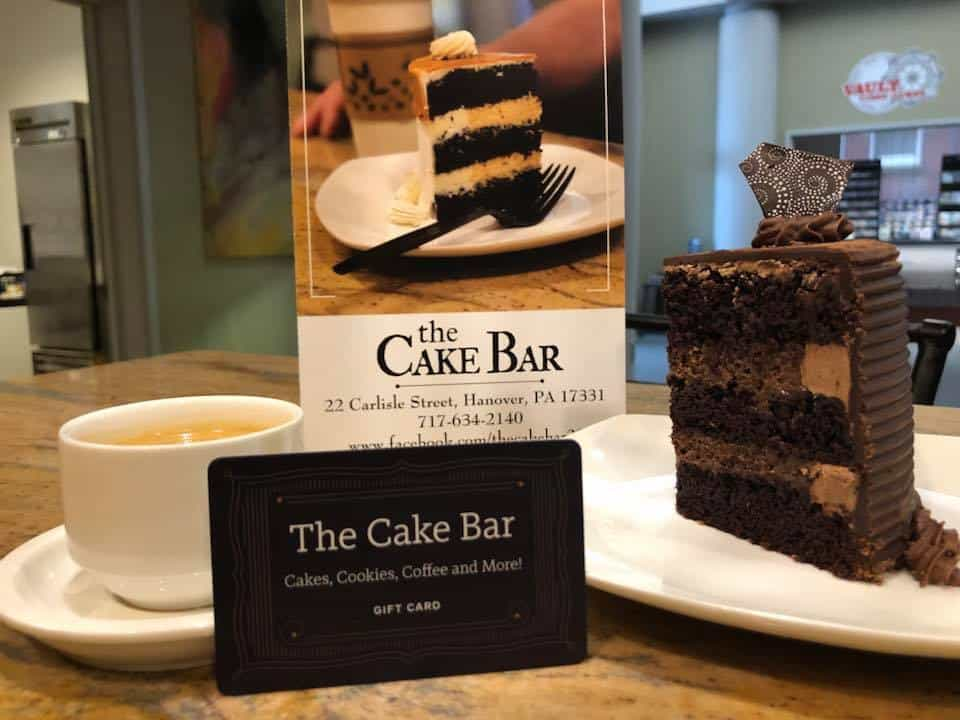 cake by the slice at the cake bar