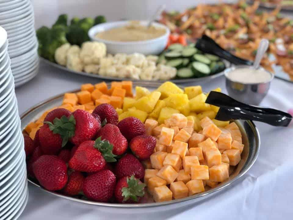 catered wedding food