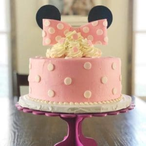 minny mouse cake